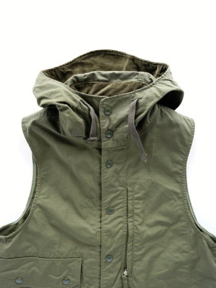 Engineered Garments FIELD VEST -NYLON COTTON RIPSTOP- (OLIVE)2