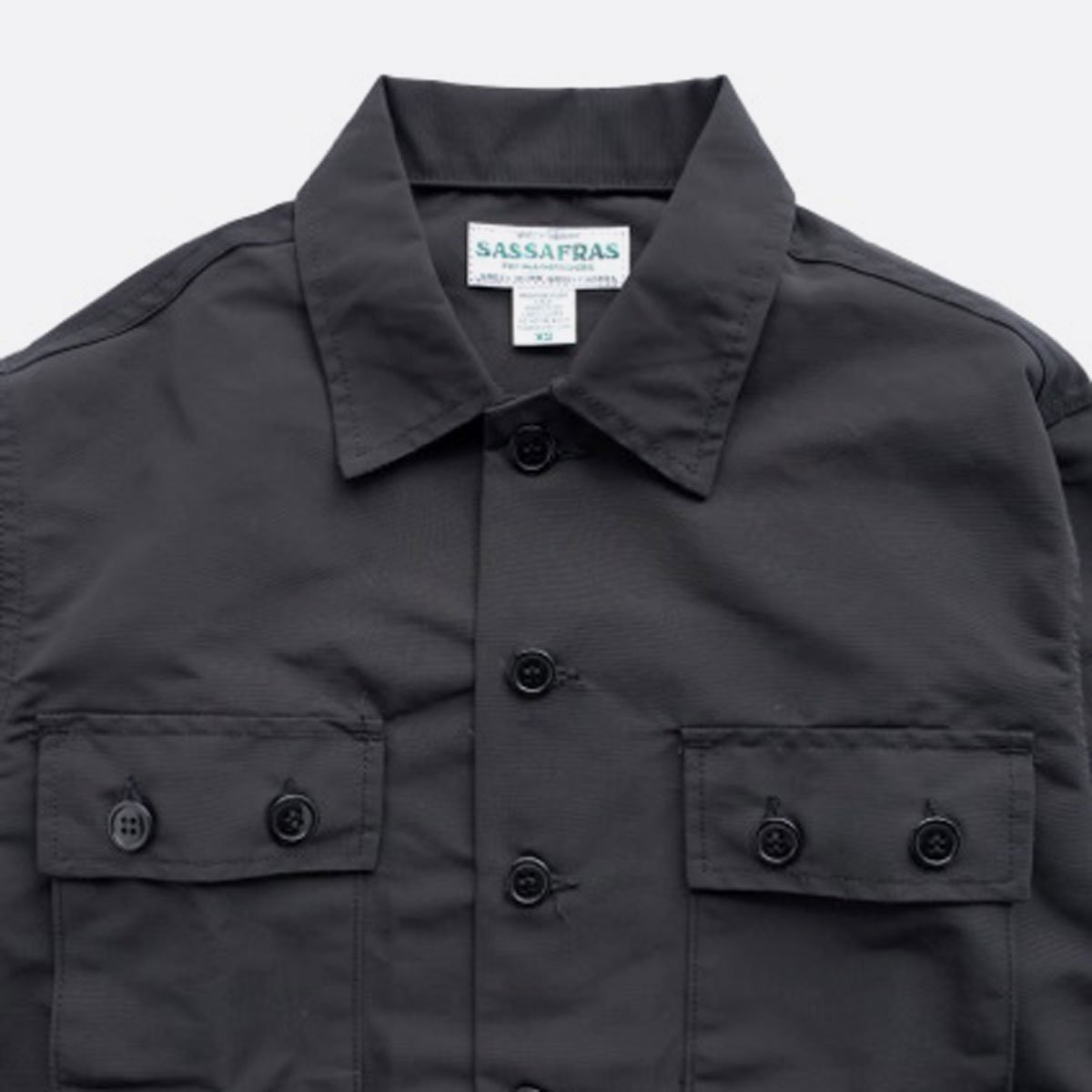 SASSAFRAS G.D.U. JACKET MEMORY OXFORD (BLACK)4