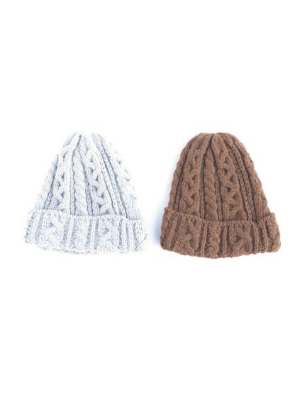 HIGHLAND2000 ALPACA BOB CAP cable (LIGHT GRAY)(BROWN)