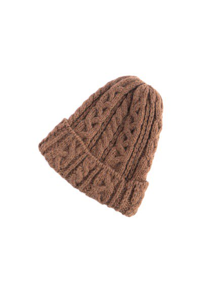 HIGHLAND2000 ALPACA BOB CAP cable (LIGHT GRAY)(BROWN)3