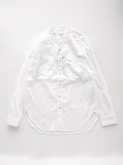 Engineered Garments  B/C Shirt - Superfine Poplin - (WHITE)