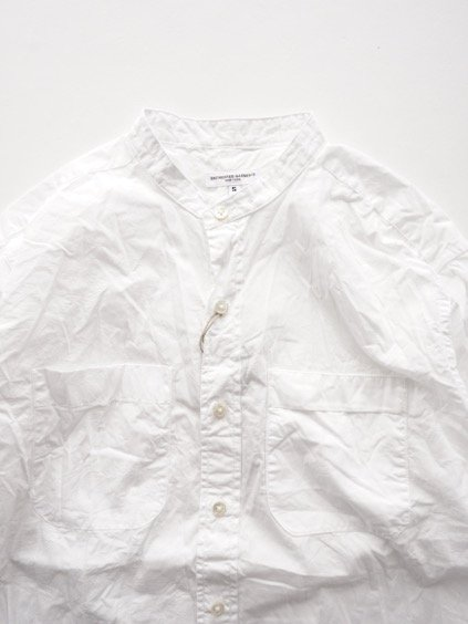 Engineered Garments  B/C Shirt - Superfine Poplin - (WHITE)2