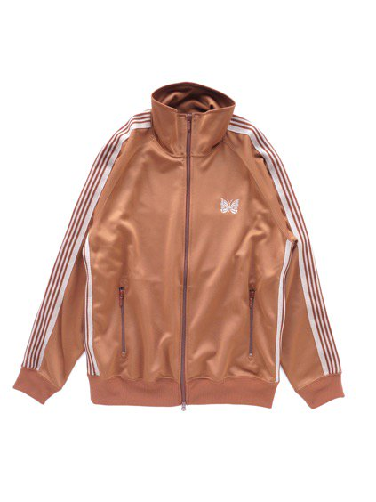 NEEDLES  TRACK JACKET - POLY SMOOTH  (BROWN)
