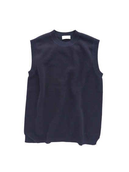 Phlannel Cool Cotton Knitting Vest (Navy)