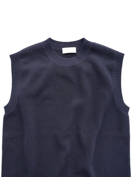 Phlannel Cool Cotton Knitting Vest (Navy)2