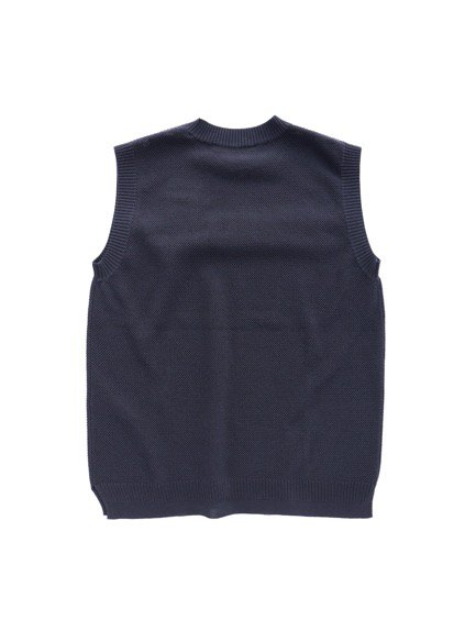 Phlannel Cool Cotton Knitting Vest (Navy)3