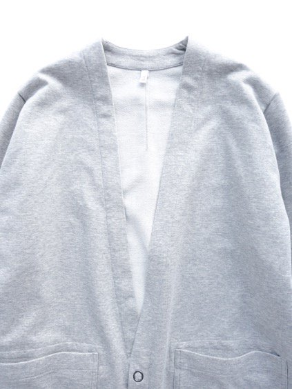 FIRMUM 36G TWILL LIKE FRENCH TERRY LONG CARDIGAN (LIGHT GREY TOP)2