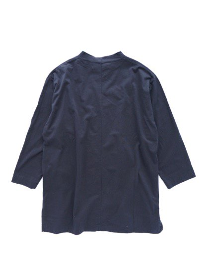 Honor gathering italian cotton smooth mock neck T (navy)4