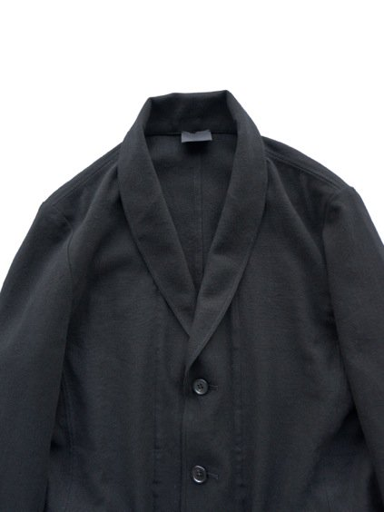 山内 COTTON LINEN OX SHAWL COLLAR JACKET (black)2
