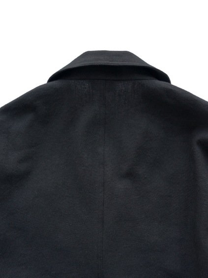 山内 COTTON LINEN OX SHAWL COLLAR JACKET (black)4