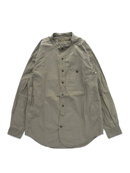 gorouta IHATOVE別注 BAND COLLAR SHIRT (OLIVE)1
