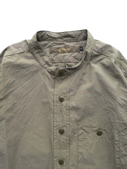 gorouta IHATOVE別注 BAND COLLAR SHIRT (OLIVE)2
