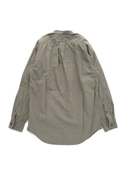 gorouta IHATOVE別注 BAND COLLAR SHIRT (OLIVE)4