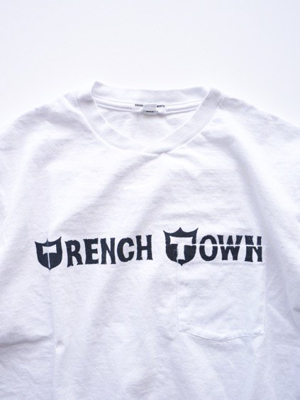 Engineered Garments Printed T-shirt -Trench Town-  (WHITE)3