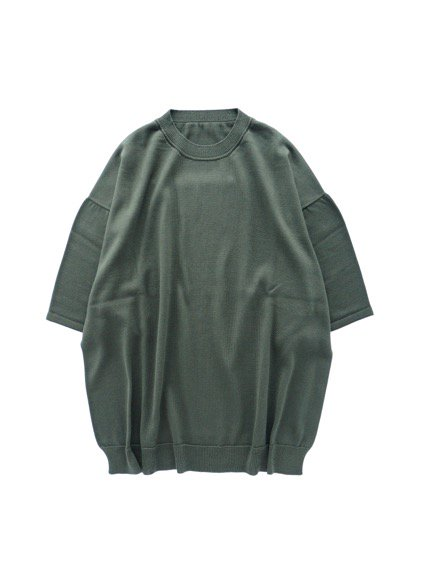 un/unbient SILK SUMMER KNIT  (CHARCOAL GREEN)