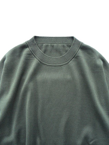 un/unbient SILK SUMMER KNIT  (CHARCOAL GREEN)2