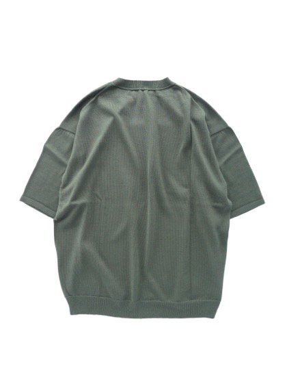 un/unbient SILK SUMMER KNIT  (CHARCOAL GREEN)4