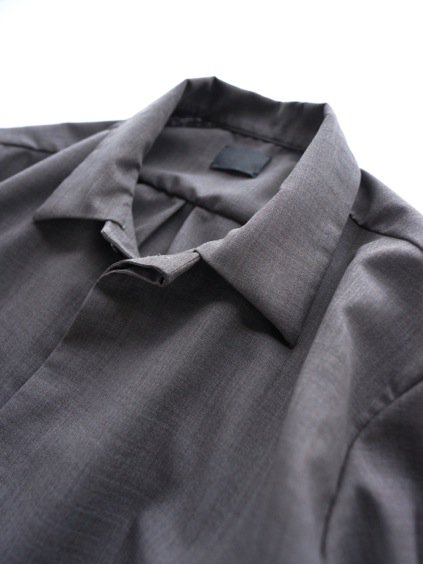 山内 NO MULESING・SILK WOOL SHIRTS (brown)2