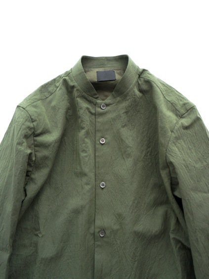 山内 STAND COLLAR LINEN SHIRTS (green)2