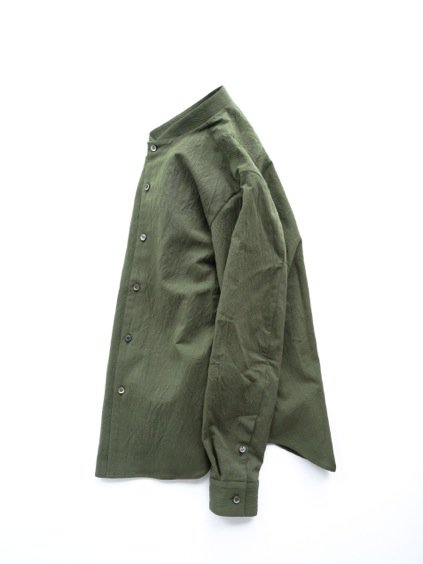 山内 STAND COLLAR LINEN SHIRTS (green)3