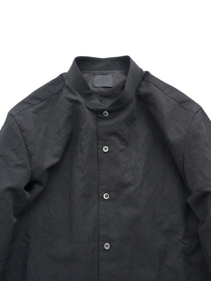 山内 STAND COLLAR LINEN SHIRTS (black)2