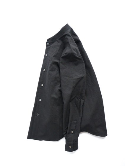 山内 STAND COLLAR LINEN SHIRTS (black)3