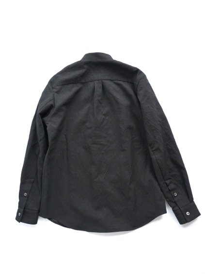 山内 STAND COLLAR LINEN SHIRTS (black)4
