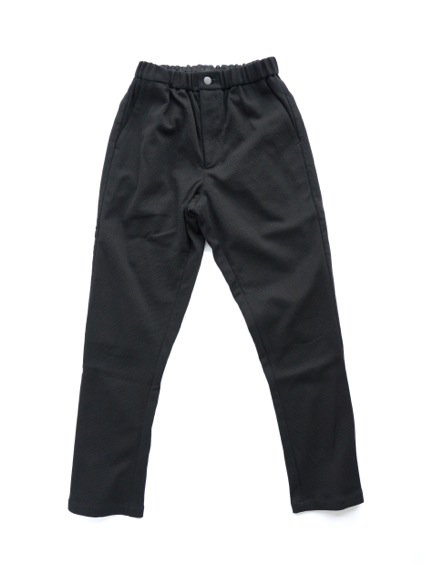 山内 COTTON LINEN KNIT PANTS (black)