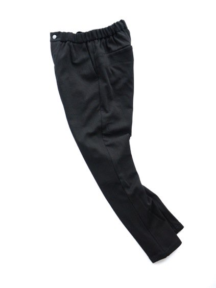 山内 COTTON LINEN KNIT PANTS (black)2