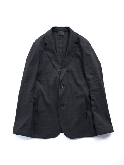 山内 別注 LINEN STRETCH TAILORED JACKET  (black)