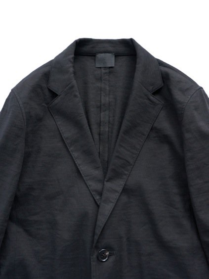 山内 別注 LINEN STRETCH TAILORED JACKET  (black)2