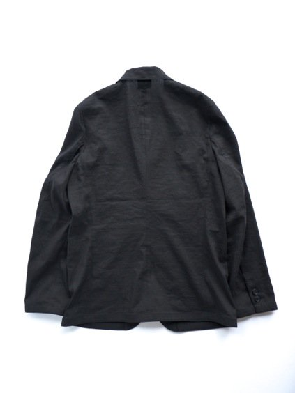 山内 別注 LINEN STRETCH TAILORED JACKET  (black)4