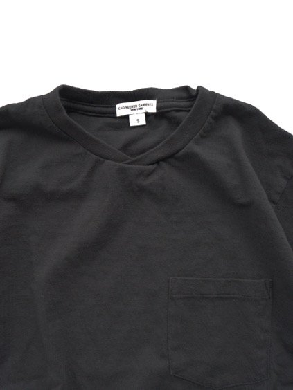 Engineered Garments  Workaday C/N Pocket Tee  (BLACK)2