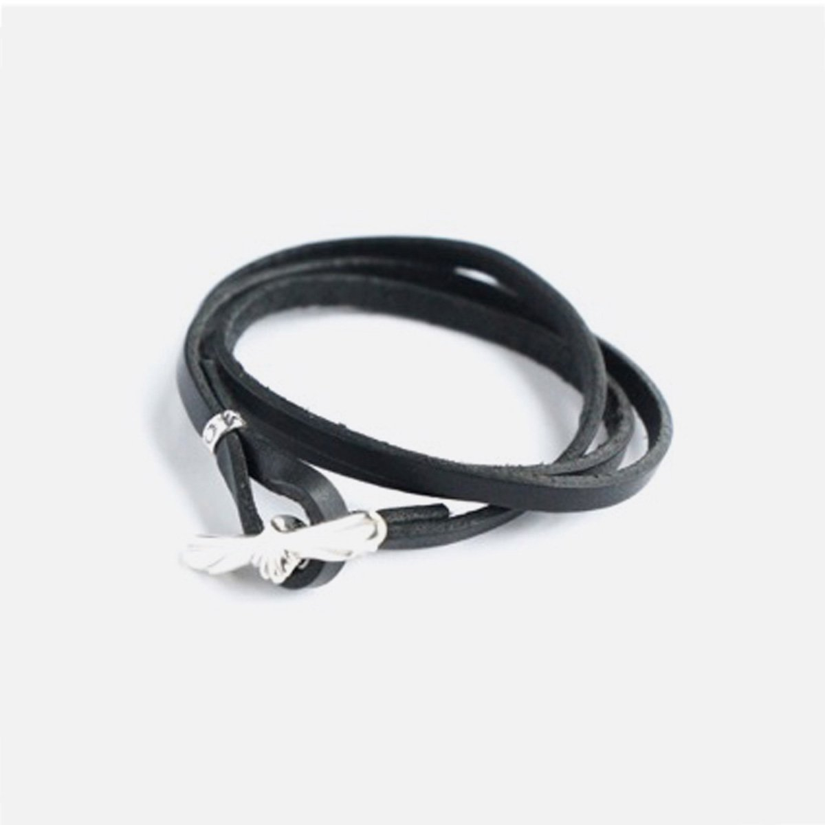 MOTO LEATHER BRACELET EAGLE  (BLACK)1