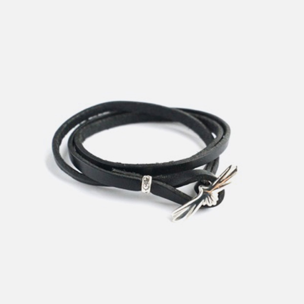 MOTO LEATHER BRACELET EAGLE  (BLACK)3