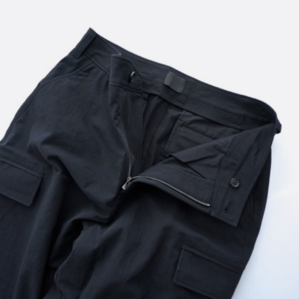 山内 COTTON VOILE 6PKT PANTS (black)2