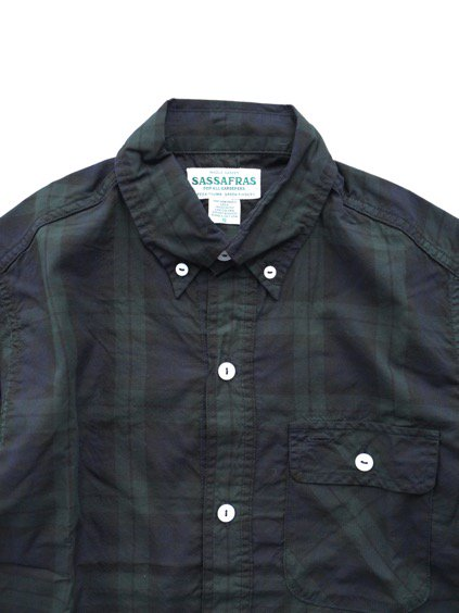SASSAFRAS GREEN THUMB SHELL SHIRT 1/2 OXFORD (CHECK)2