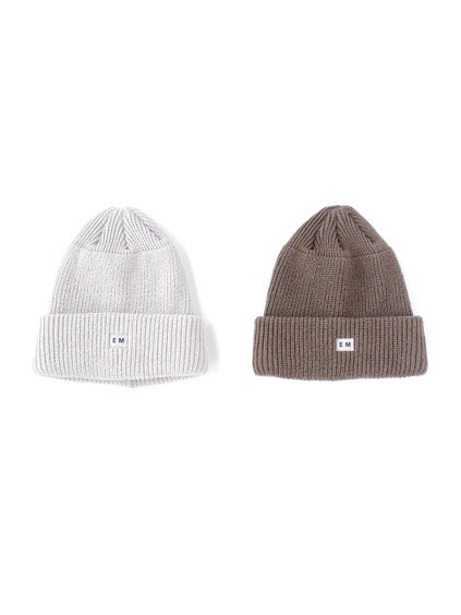 ENDS & MEANS  WATCH CAP (LIGHT GRAY) (DARK BROWN)