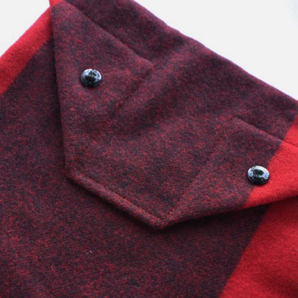 Engineered Garments Shoulder Pouch - Big Plaid Wool Melton  (Red)3