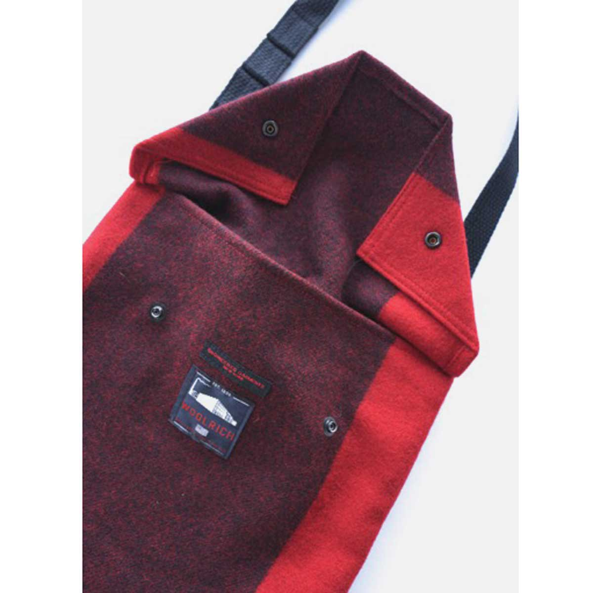 Engineered Garments Shoulder Pouch - Big Plaid Wool Melton  (Red)4
