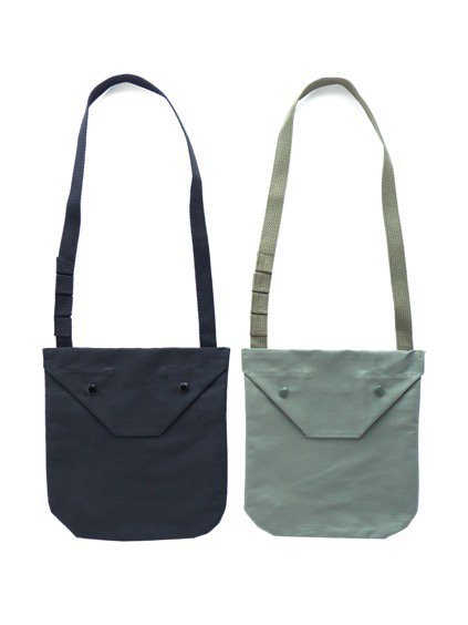 Engineered Garments Shoulder Pouch - Cotton Double Cloth  (Black)(Navy)