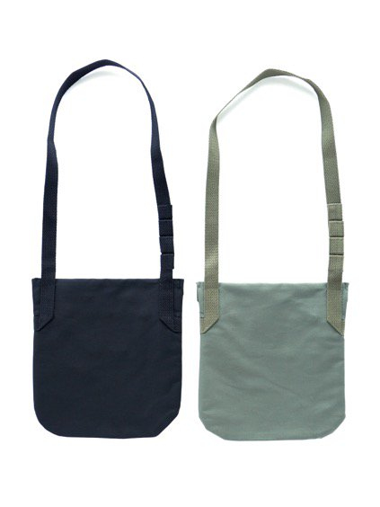 Engineered Garments Shoulder Pouch - Cotton Double Cloth  (Black)(Navy)4