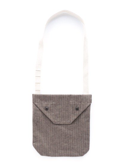 Engineered Garments Shoulder Pouch - Brushed HB  (Brown)