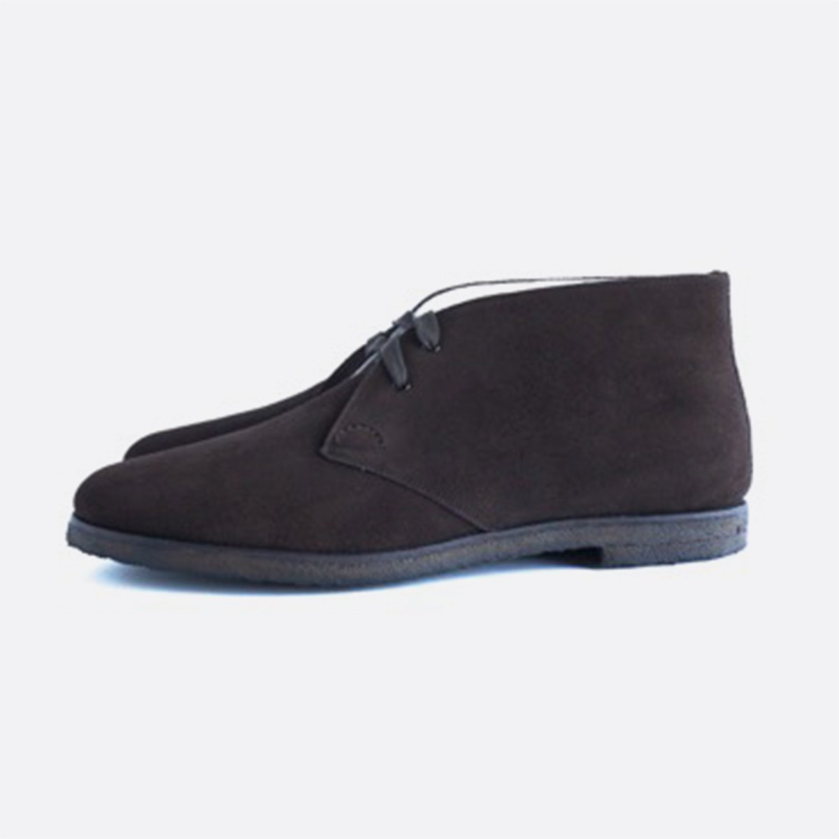 FOOTSTOCK ORIGINALS CHUKKA BOOTS  (DARK BROWN SUEDE)