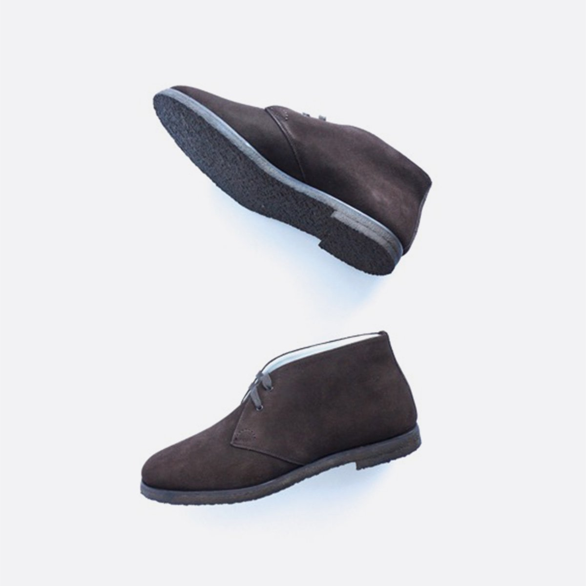 FOOTSTOCK ORIGINALS CHUKKA BOOTS  (DARK BROWN SUEDE)4