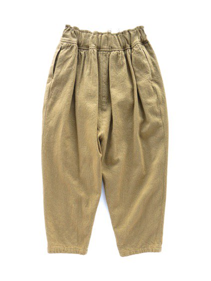 FIRMUM MILLING WOOL&COTTON TWILL EASY PANTS (CAMEL)