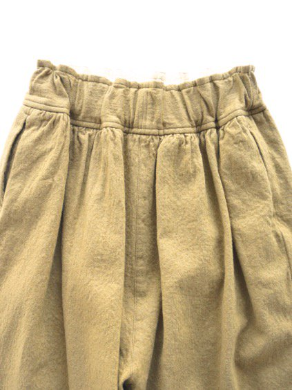 FIRMUM MILLING WOOL&COTTON TWILL EASY PANTS (CAMEL)2