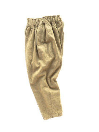 FIRMUM MILLING WOOL&COTTON TWILL EASY PANTS (CAMEL)3