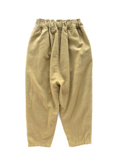 FIRMUM MILLING WOOL&COTTON TWILL EASY PANTS (CAMEL)4