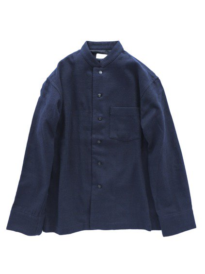 Phlannel Cotton Flannel Cook Shirt  (Navy)